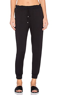Splendid Super Soft French Terry Sweatpant in Black & Black