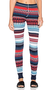 Splendid Snowbird Fair Isle Legging in Fiesta