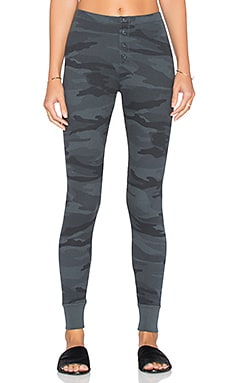 Splendid Woodbury Camo Legging in Gunmetal