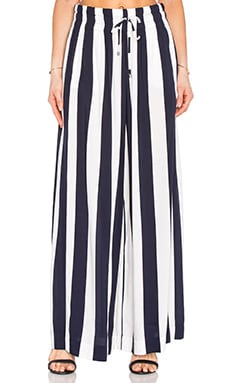 Capistan Rugby Stripe Pant in Navy & White