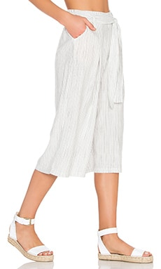 Splendid Marina Pinstripe Cropped Pant in Natural