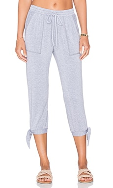 Splendid Teton Cozy French Terry Sweatpant in Heather Grey