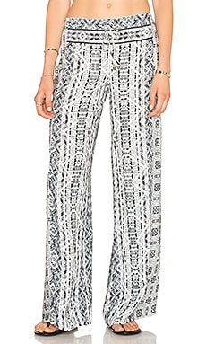 Splendid Taos Print Pant in Black