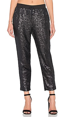 Sequin Embellished Sweatpant in Black