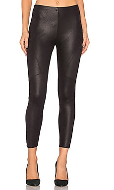 Coated Legging in Schwarz