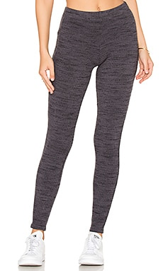 Brushed Tri-Blend Legging en Asphalt