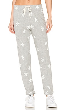 Ashbury Star Print Sweatpant in Heather Grey