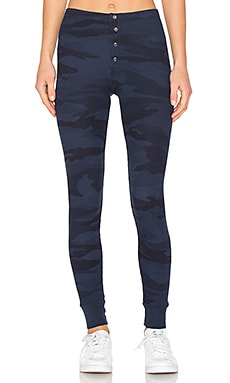 Camo Thermal Leggings in Navy