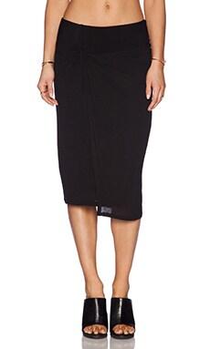 Splendid Drapey Lux Skirt in Black