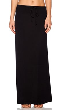 Splendid Tie Waist Maxi Skirt in Black