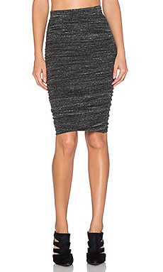 Splendid Brushed Tri-Blend Skirt in Charcoal