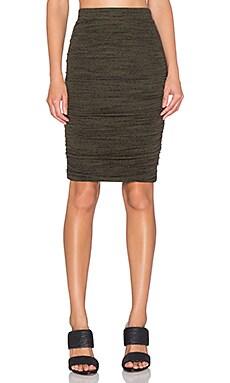 Splendid Brushed Tri-Blend Skirt in Olivine