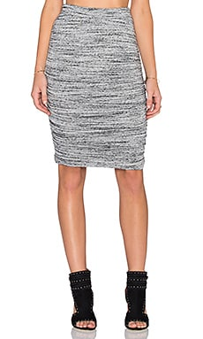 Splendid Brushed Tri-Blend Skirt in Heather Grey