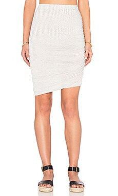 Winward Micro Stripe Skirt in Heather Grey