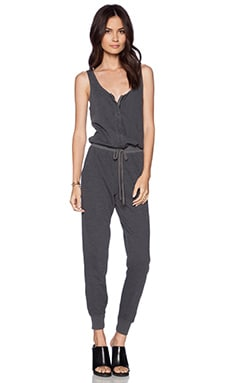 Splendid Space Dye Active Jumpsuit in Lead