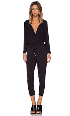 Splendid Rayon Voile Jumpsuit in Black