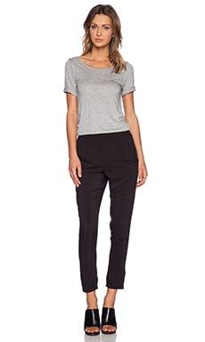 Splendid Rayon Voile Jumpsuit in Heather Grey & Black