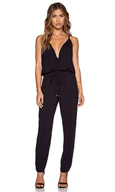 Splendid Rayon Voile Jumpsuit in Black