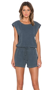 Splendid Slub Active Romper in Lead