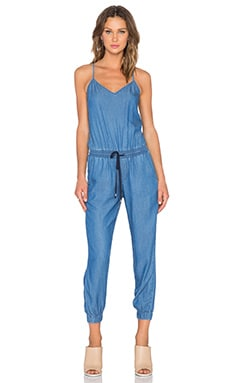 Splendid Rayon Voile Jumpsuit in Denim
