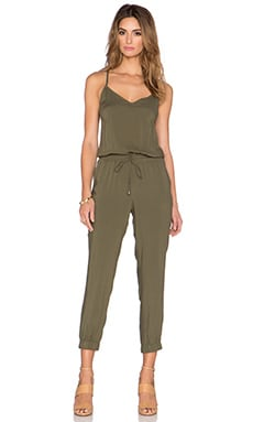 Splendid Rayon Voile Jumpsuit in Dusty Olive
