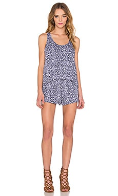 Circle Trellis Romper in Navy