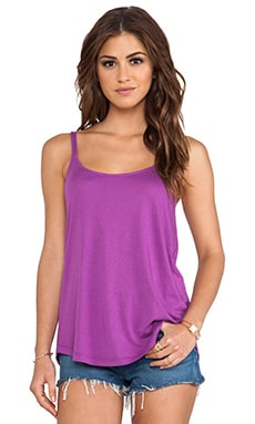 Very Light Jersey Tank in Very Berry