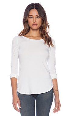 Splendid Tencel Jersey Top in White