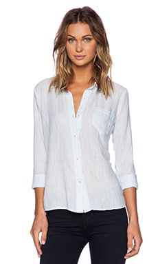 Splendid Active Mix Dockway Shirting Top in Stonewash