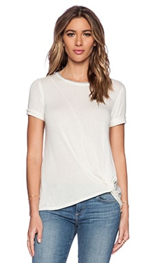 Splendid Drapey Lux Top in Bone