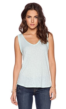Splendid Slub Tees Drape Back Tank in Surf Spray