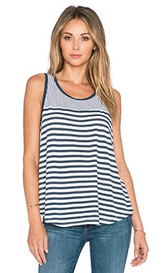 Splendid Monterosso Stripe Tank in White