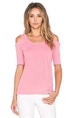 Splendid Vintage Whisper Open Shoulder Tee in Grapefruit