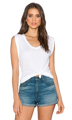 Splendid Very Light Jersey Rib Tank in White