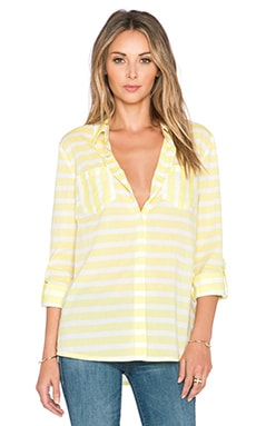 Splendid Capri Novelty Button Up Top in Lemoncello