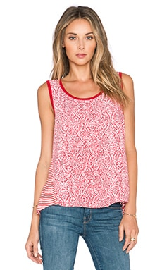 Splendid Paisley Print Tank in Bonfire