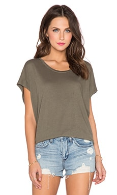 Splendid Very Light Jersey Tee in Dusty Olive
