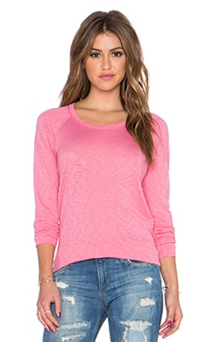 Splendid Slub Dolman Sleeve Tee in Desert Rose