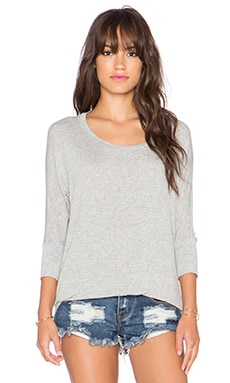 Splendid Drapey Lux Dolman Sleeve Tee in Heather Grey