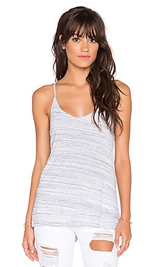 Splendid Space Dye Luxe Jersey Tank in Heather Grey