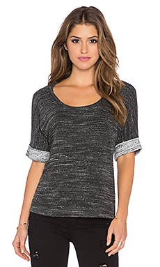 Splendid Brushed Tri-Blend Tee in Charcoal