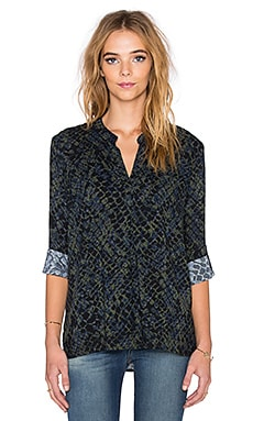 Splendid Batik Crocodile Print Top in Olivine