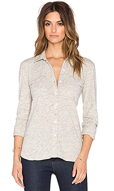 Splendid Long Sleeve Button Up in Ash