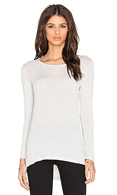 Drapey Lux Long Sleeve Tee in Perla