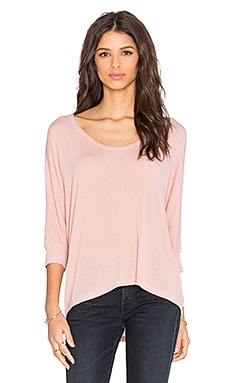 Splendid Drapey Lux Dolman Tee in Dusty Rose