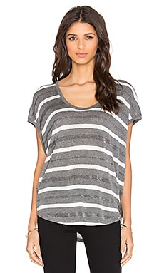 Splendid Mojave Shine Stripe Tee in Steel