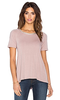 Splendid Tencel Crew Neck Tee in Dusty Rose
