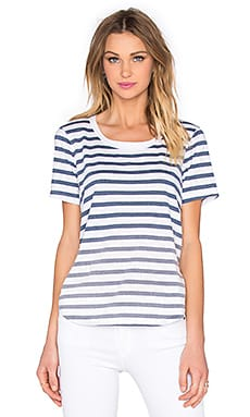 Sunfaded Stripe Jersey Tee in Navy