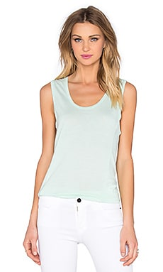 Very Light Jersey Scoop Neck Tank in Aqua & Glass