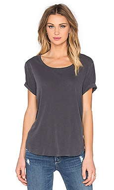 Vintage Whisper Scoop Neck Tee in Lead